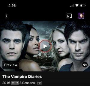 All 8 seasons of Vampire Diaries are available to watch on Netflix