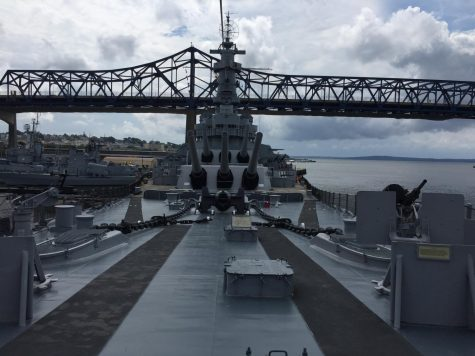 The WWII battleship USS Massachusetts, built at the height of American naval power.
