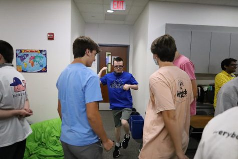 Members of the Accepting Differences team enjoy fun activities during their second meeting of the year