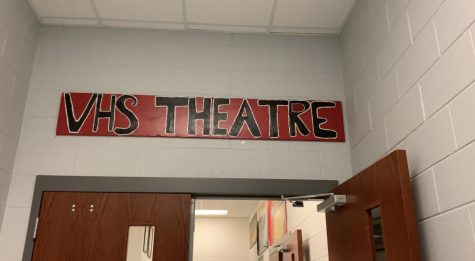 Behind the scenes of the Vandegrift theatre department with many interesting areas.