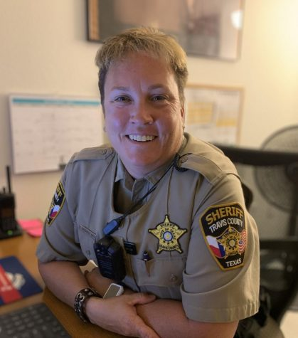 School Resource Officer, Kim Richards, works to maintain safety at our school.