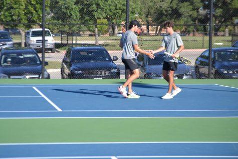 Varsity tennis vs Round Rock District Semi-Finals