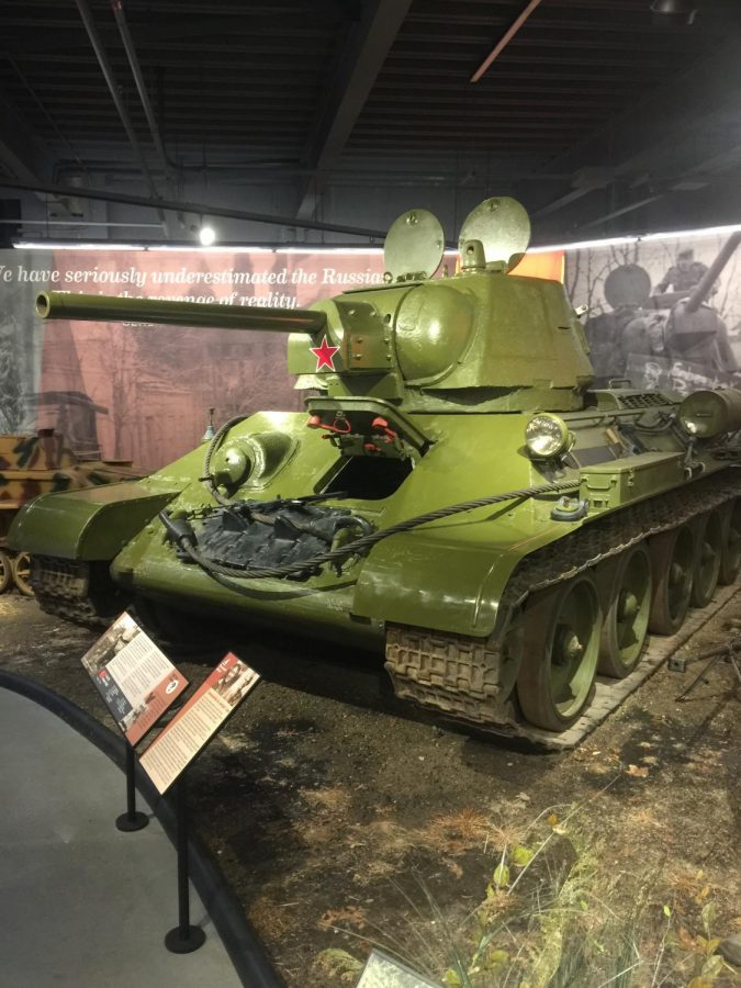 A Soviet WW2-era T-34/76 medium tank, one of the only ones on display in America. Photo by Nicholas Scoggins
